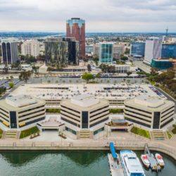 Aerial view of Catalina Landing Long Beach