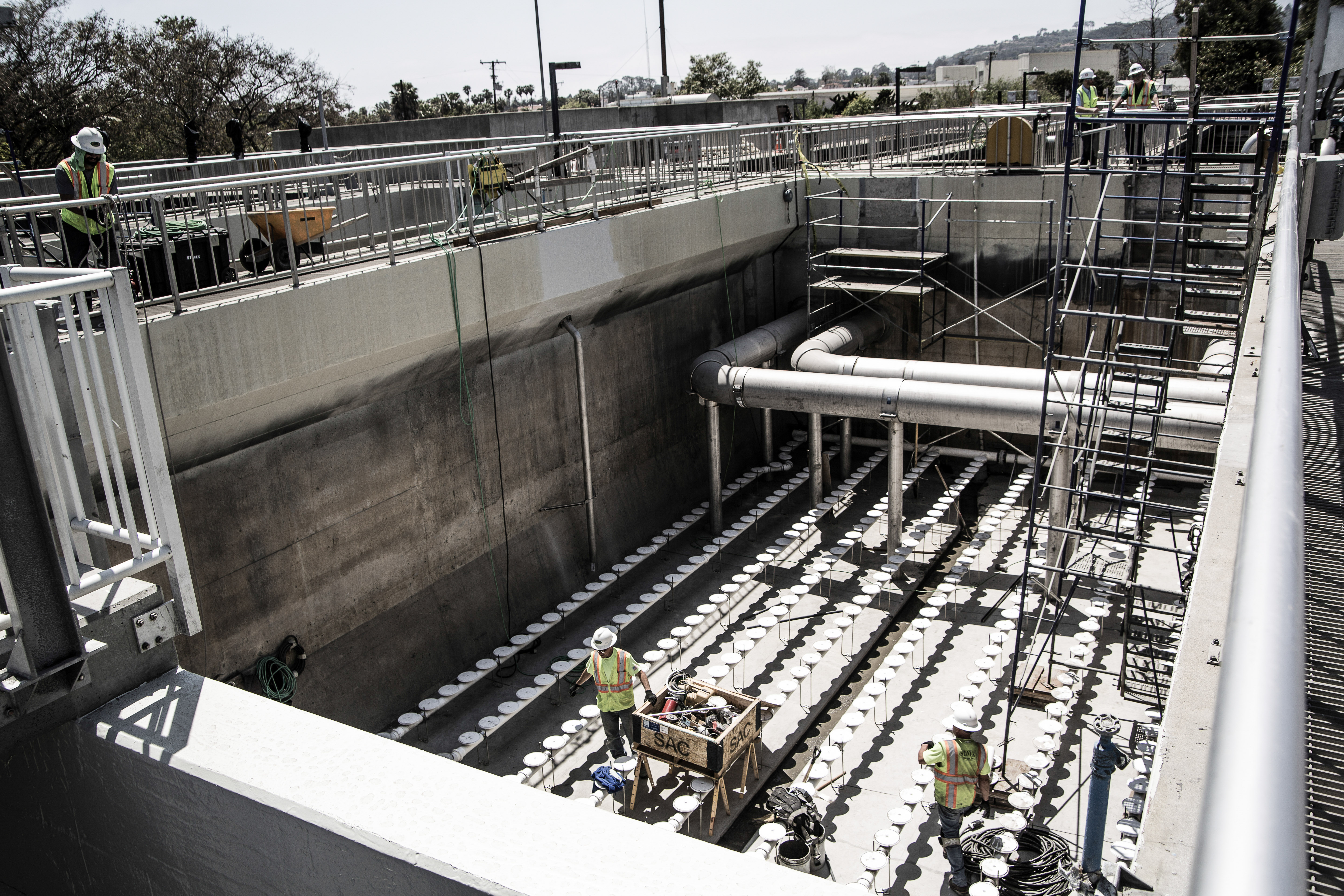 waste water treatment plant owner training video and final photography